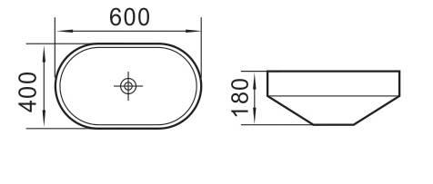UMYWALKA WPUSZCZANA W BLAT NIKE, 60 cm-5