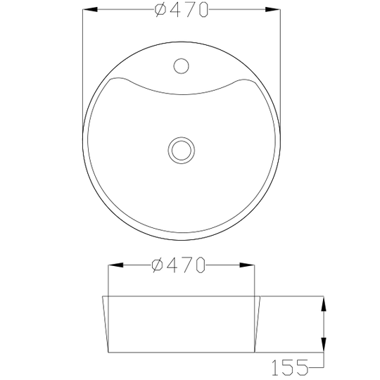UMYWALKA NABLATOWA RONDI, 47 cm-5