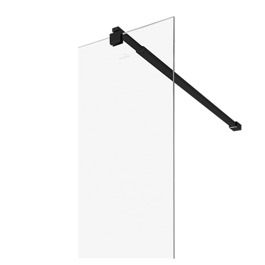 ŚCIANKA PRYSZNICOWA TYPU WALK-IN CZARNY PROFIL, 120x200 CM Z POWŁOKĄ SHINY-GLASS-3